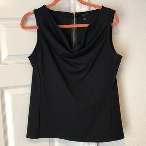 Black scoop neck sleeveless top